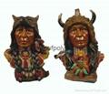 Polyresin indian head,resin inian crafts,inian sculpture