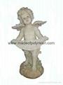 polyresin angel,standing garden angel