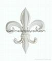 Fleur de lis decoration, resin accessory