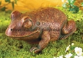 Natural clay with burnished finish resin frog
