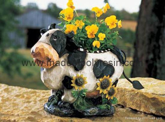 polyresin garden animal,polyresin garden decor planter,flower planter