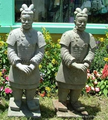 poly-resin Chinese Terra cotta garden soldiers