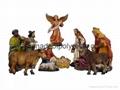 polyresin nativity set,resin nativity,Christian figurine