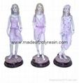 polyresin sculpture,resin lady figure,