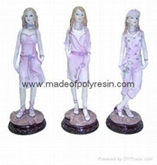polyresin sculpture,resin lady figure, figure crafts