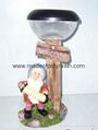 Polyresin Garden  W/Solar Lamp & Light, solar decoration