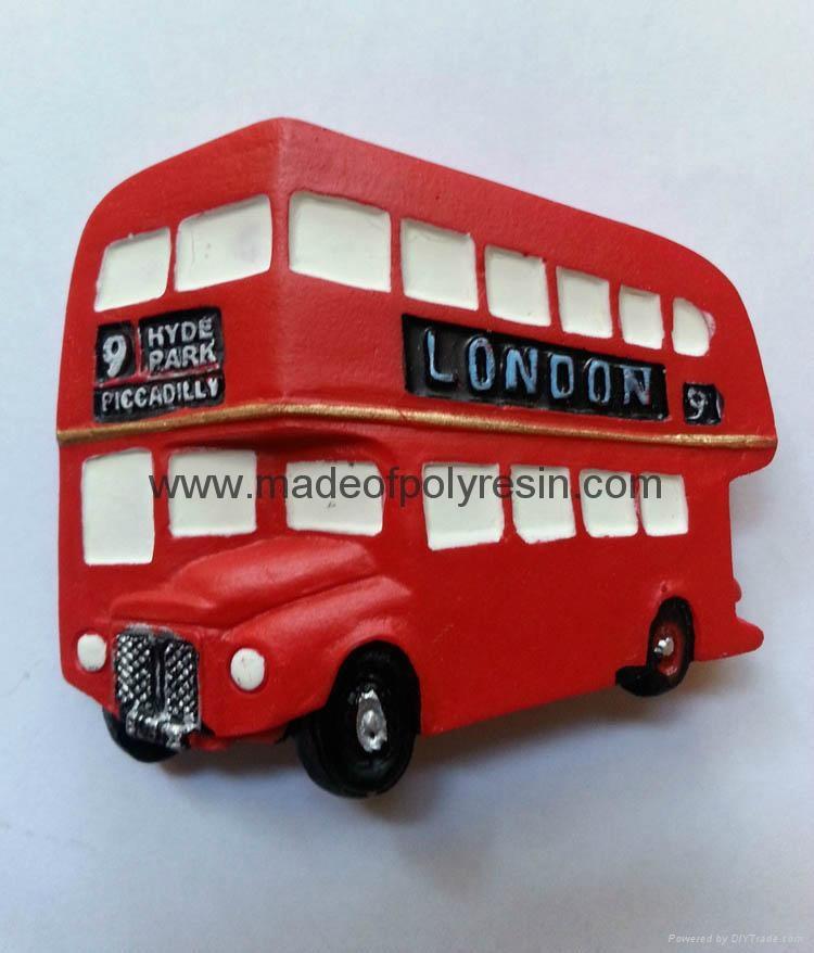 Resin Fridge Magnet of Polyresin Magnet of London Car