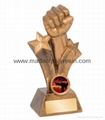 Polyresin Sport Award with Win Sign