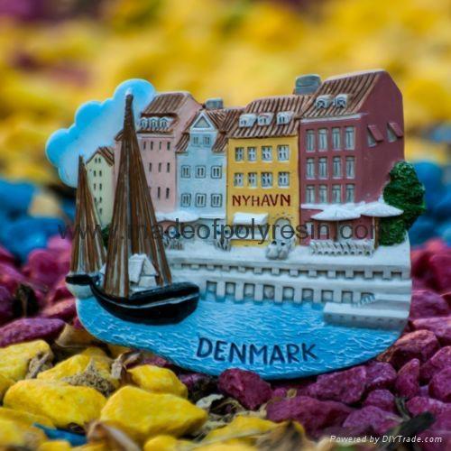 Polyresin Denmark. Copenhagen. Nyhavn of souvenir items 1