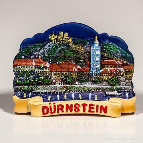 Polyresin Magnet of Durnstein Night View 1