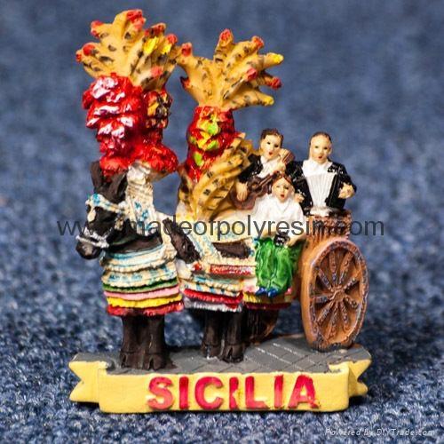 Polyresin Italy. Sicily. Sicilian Cart (Carrettu Sicilianu) 1