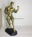 Polyresin Sports Bronze Fitness of Muscle Man Bodybuilder statue