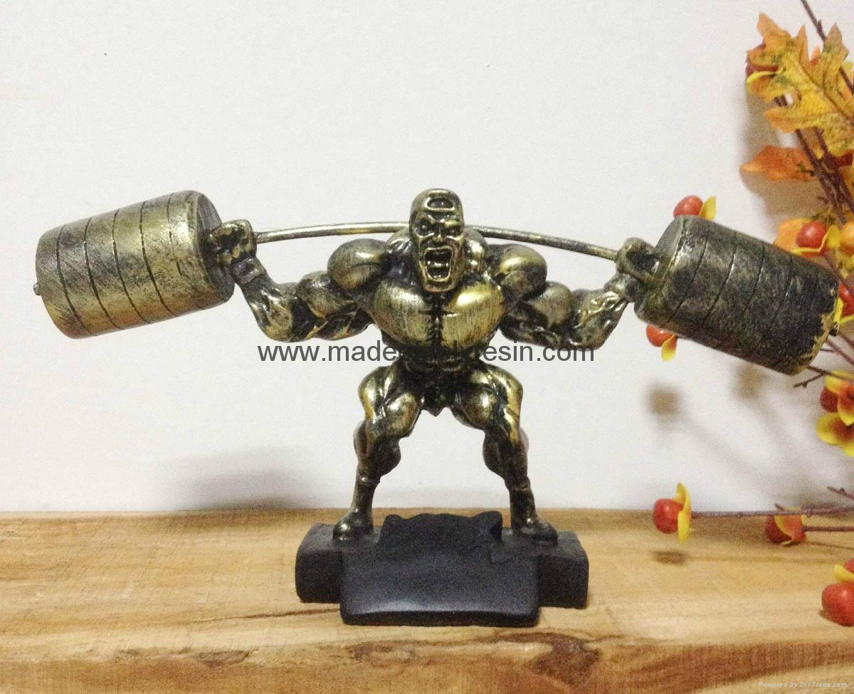 Polyresin Muscle Man of Bodybuilder sculpture