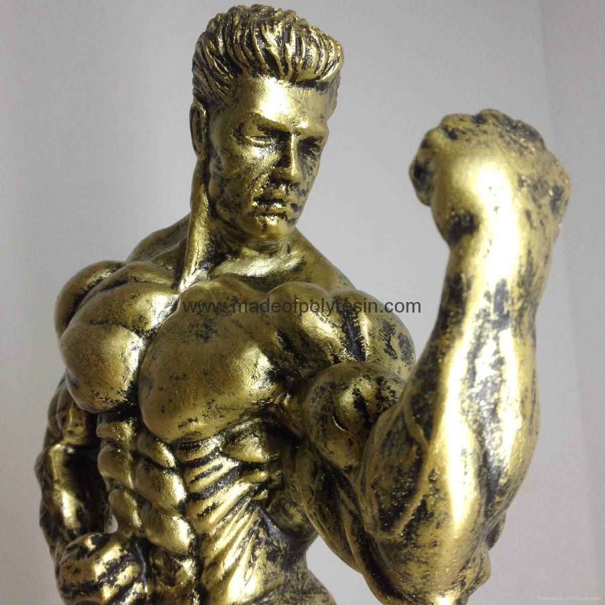 Resin Bodybuilder statue crafts 1