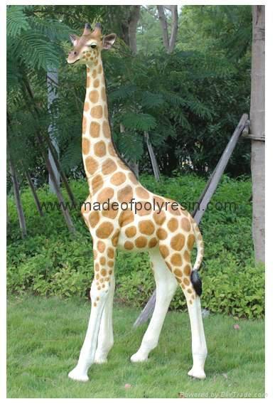 Fiber glass large size statue of Giraffe 1