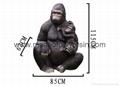 Garden Decoration King Kong Life Size Monkey Model 1