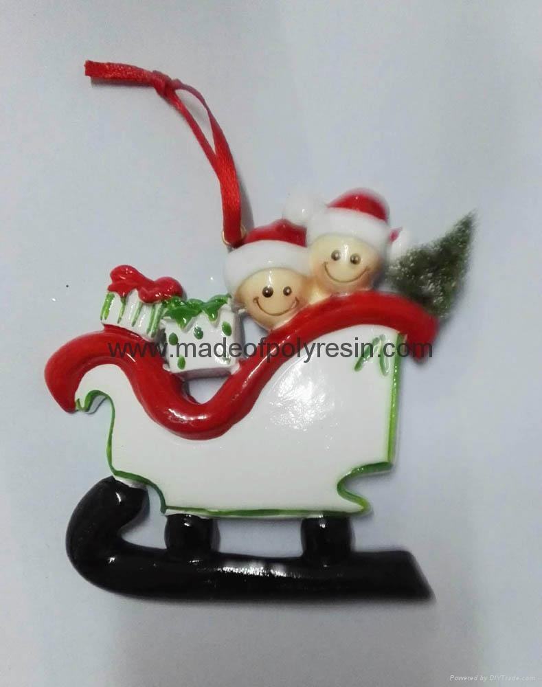 Customized Material of polyresin christmas ornaments 1
