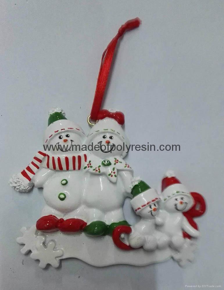 Resin christmas tree ornament 1