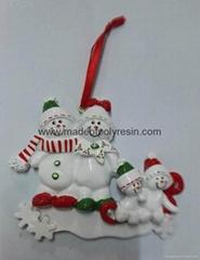 Resin christmas tree orn