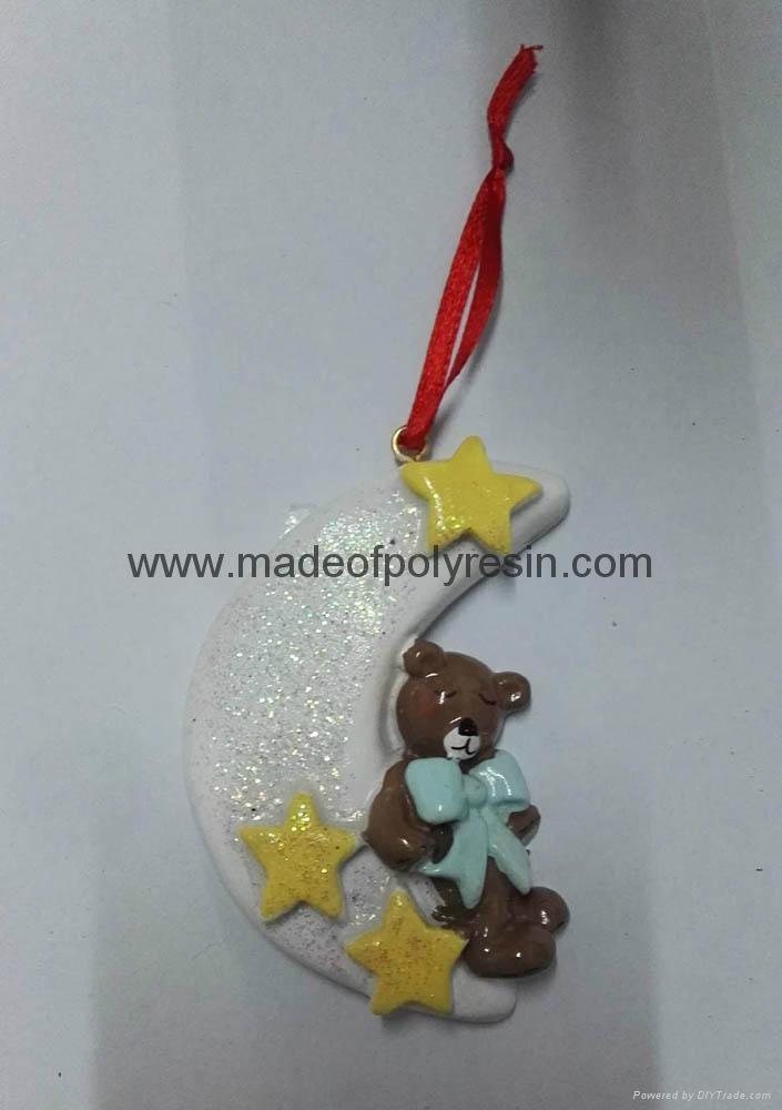 Polyresin Decorative christmas tree hanging ornament 1