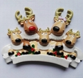 Polyresin reindeer christmas ornament
