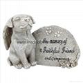 Polyresin Memorial Dog Statue for Garden