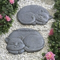 Polyresin Stepping Stone of Sleeping Cat 1