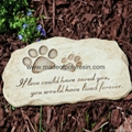 Resin Garden Stepping Stone of Garden Pet Devotion 1