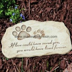Resin Garden Stepping Stone of Garden Pet Devotion