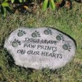 Resin Garden Stepping Stone with Dog Paw