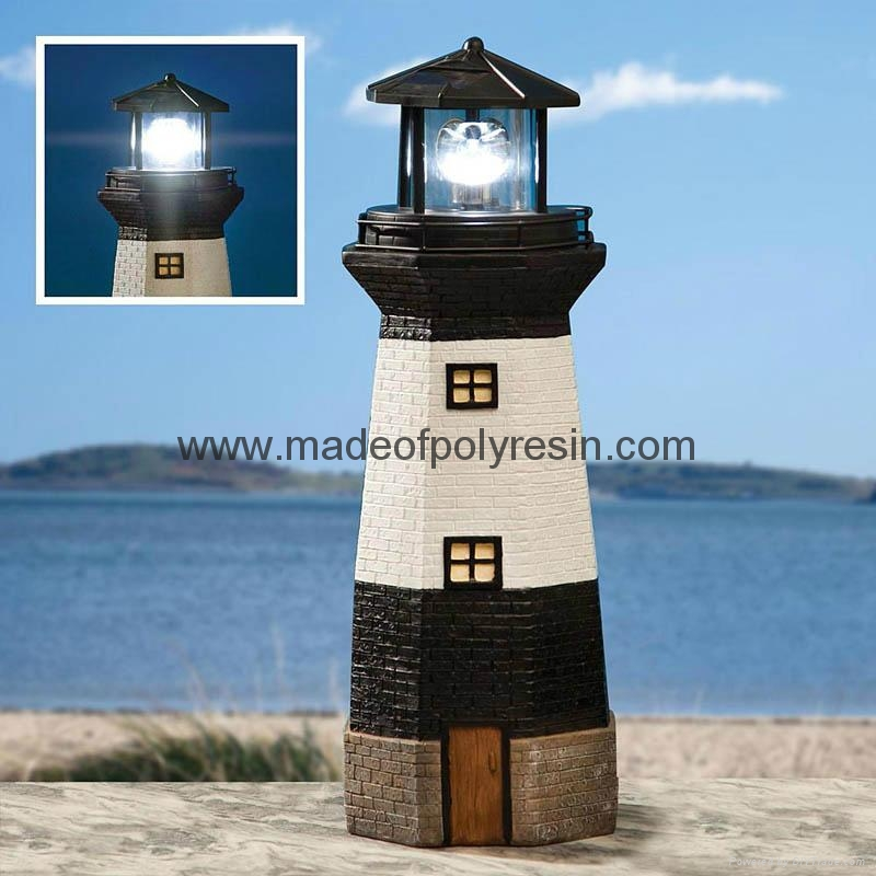 Large Solar Lighthouse of Fiberglass Crafts 1