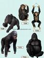 Fiber glass gorilla decoration