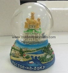 Souvenir Snow globe of Russian crafts