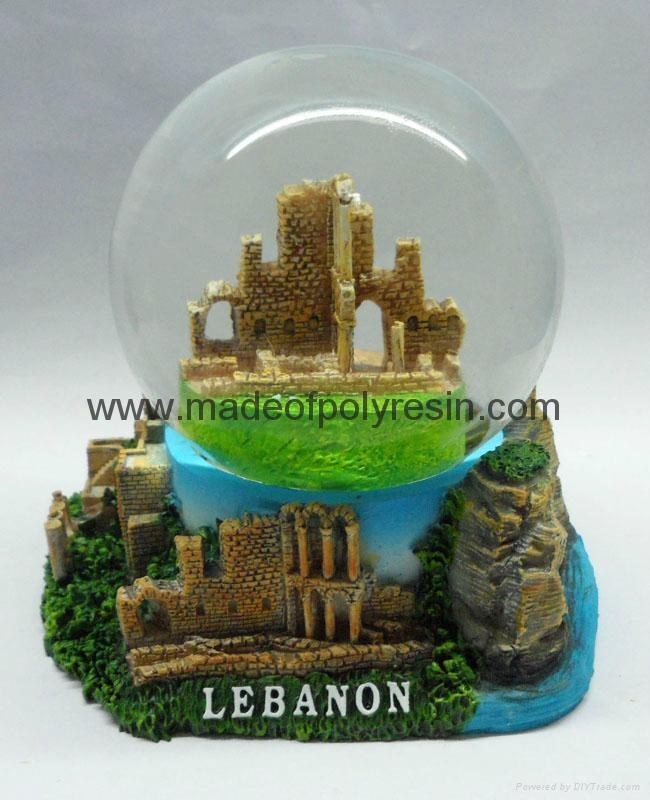 Lebanon Souvenir of resin snow globe 1