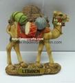 Polyresin camel of middle east souvenir