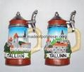 Tallinn tourist of cup shape magnet