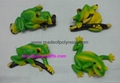 Polyresin Green frog on tree 1