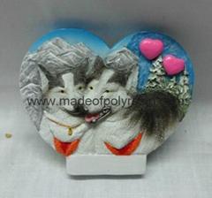 Resin Wolf souvenir frid