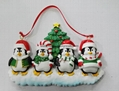 Personalized christmas decoration of Pengium family