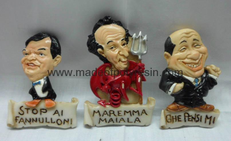 Polyresin figurine fridge magnet crafts