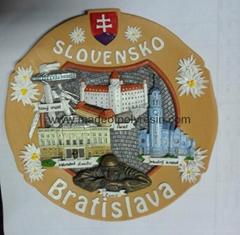 Polyresin Bratislava souvenir plate