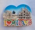 Resin Milano souvenir magnet items