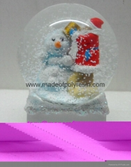 High quality Christmas snow globe with music base