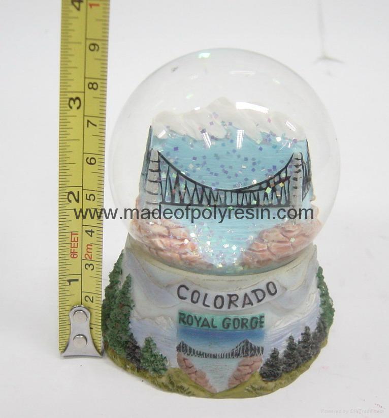 resin miniature snowglobe, resin snowball 1