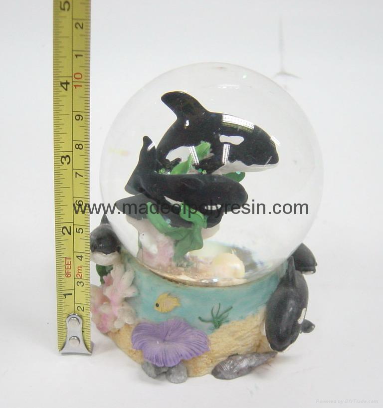 polyresin/polystone dolphin snowball,snow globe 1