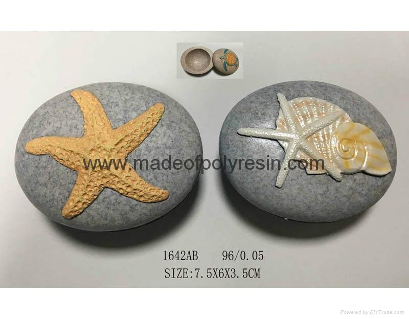 OEM stone shape with 3D seashell 1