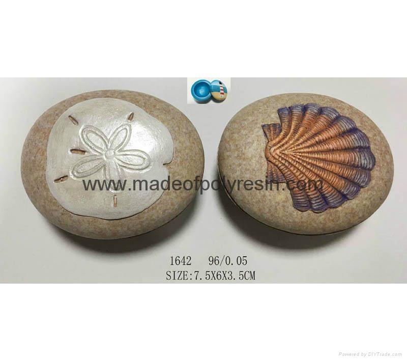 OEM stone shape with 3D seashell 3