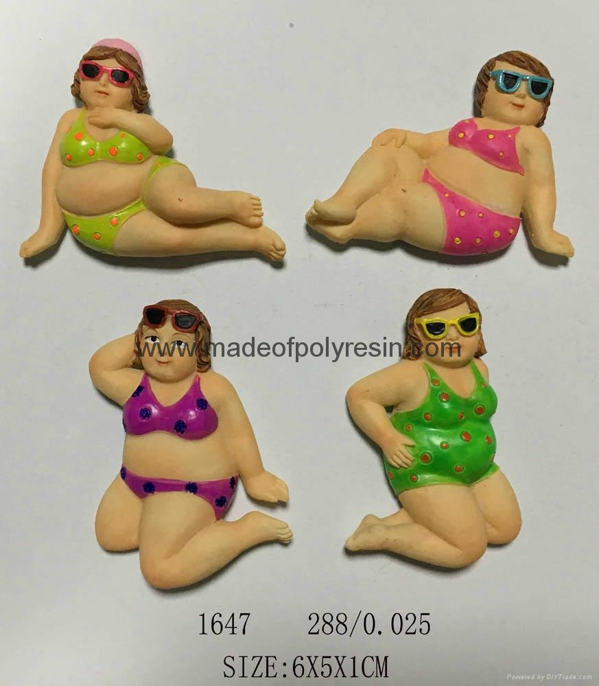 Good quality 3D lady magnet gifts 1
