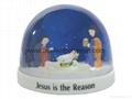 Plastic snow globe with Jesus for