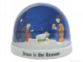 Plastic snow globe with Jesus for religous gifts